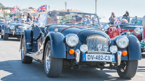 Parade of beautiful old English cars Stock Image
