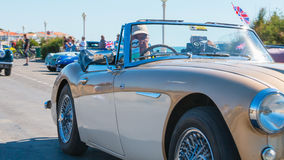 Parade of beautiful old English cars Royalty Free Stock Images