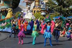 Parade bei Disneyland Stockbild