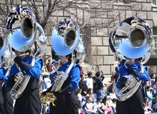 Parade. Bezinningen in de windpijpen Royalty-vrije Stock Fotografie