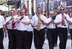 Parade in Boekarest stock foto's