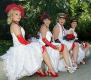 The parade of brides Royalty Free Stock Photos