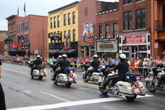 Parade on Broadway in Nashville, Tennessee royalty free stock images