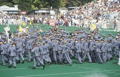 Parade of Cadets during College Football Homecoming, West Point, NY Stock Photos