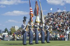 Parade of Cadets during College Football Homecoming, West Point, NY royalty free stock photo