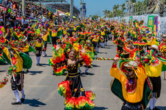 Parade carnival festival of  Barranquilla Atlantico Colombia Stock Images