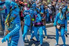Parade carnival festival of  Barranquilla Atlantico Colombia Royalty Free Stock Photo