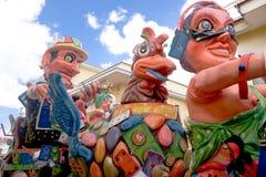 Parade of Carnival floats Royalty Free Stock Photos