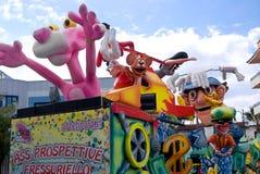 Parade of Carnival floats Stock Photos