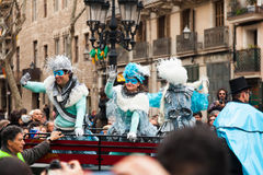 The parade of the Carnival King Stock Image