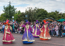 Parade of Cartoon Characters in Disneyland Royalty Free Stock Photography