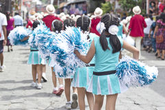Parade celebrating the independence of Guatemala's Stock Photos
