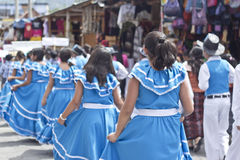 Parade celebrating the independence of Guatemala's Royalty Free Stock Photo
