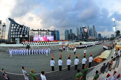 Parade ceremony segment at NDP 2011 Stock Image