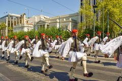 Free Parade Changing Of The Guard In Athens. Stock Photography - 109937972