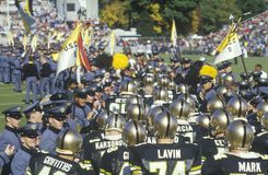 Parade of College football players Royalty Free Stock Images