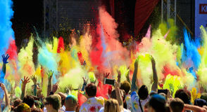 A parade of colors of holi . Stock Image