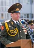 Parade commander Royalty Free Stock Photo