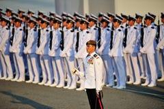 Parade Commander LTC Clarence Tan at NDP 2012 Royalty Free Stock Photo