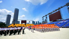 Parade contingents at NDP 2010 Royalty Free Stock Image