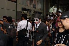 Parade cosplayer in Bangkok. BANGKOK, THAILAND - JANUARY 24: costumed player walk through the crowd at CentralWorld Royalty Free Stock Photos
