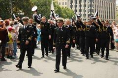Parade Crew of the ship Royalty Free Stock Photos