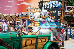 Parade with Daisy Duck. In Eurodisney, France Royalty Free Stock Photos