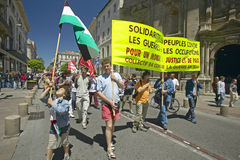 Parade demonstration against war in Irag, Avignon, France Royalty Free Stock Photography