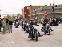 Parade der Motorräder Lizenzfreies Stockbild