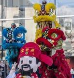 Parade des Chinesischen Neujahrsfests - das Jahr des Hundes, 2018 lizenzfreie stockfotografie