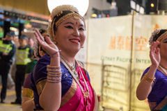 Parade des Chinesischen Neujahrsfests Nacht Lizenzfreie Stockfotos