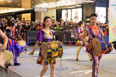 Parade des Chinesischen Neujahrsfests Nacht Lizenzfreies Stockfoto