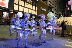 Parade des Chinesischen Neujahrsfests Nacht Stockfoto