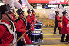 Parade des Chinesischen Neujahrsfests Nacht Lizenzfreie Stockfotografie