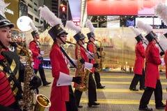 Parade des Chinesischen Neujahrsfests Nacht Stockbilder