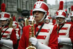 Parade des neuen Jahres Tagesin London Stockbild