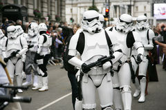 Parade des neuen Jahres Tagesin London Stockfotografie