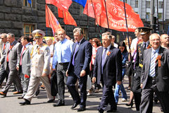 Parade des Sieges Stockfoto