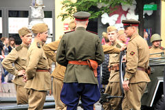 Parade des Sieges Stockfotografie