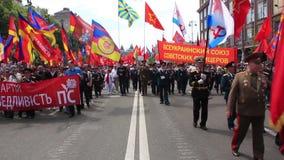 Parade des Sieges in Kiew, Ukraine stock footage