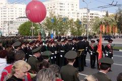 Parade des Sieges. Vladimir, 9. Mai 2009 Stockfotografie