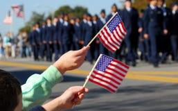 Parade des Veterans Stockbilder