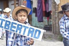 Parade die de onafhankelijkheid van Guatemala vieren Stock Fotografie