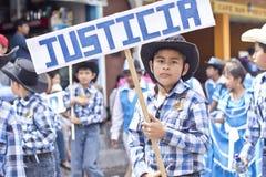 Parade die de onafhankelijkheid van Guatemala vieren Stock Foto's
