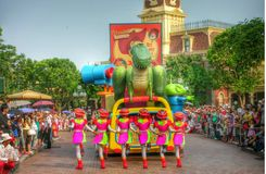 Colourful and fun Parade Disney land Hong Kong 2006 Stock Image