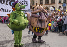 Parade of dragons Stock Photo