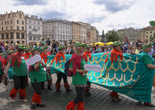 Parade of dragons Stock Photography