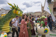 Parade of dragons Stock Images
