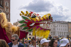 Parade of dragons Royalty Free Stock Images