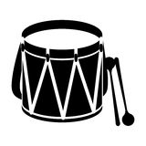 Parade drum icon image Stock Image